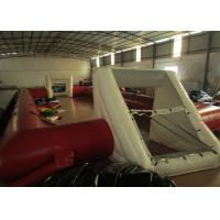 Buy cheap Commercial Adult Inflatable Soccer Field , Outdoor Inflatable Football Playground from wholesalers