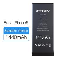 Quality 1440mAh Original Capacity Iphone 5 Battery Replacement Black Color 1 Year Warranty for sale