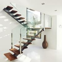 Buy cheap Indoor straight staircase,mono stringer staircase,wooden stairs from wholesalers