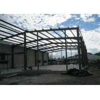 Quality Single Span Steel Frame Warehouse Construction Fast Constructed For Industry for sale
