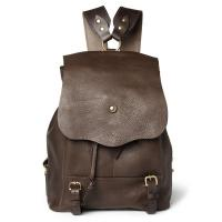China Hiking Unisex Leather Backpack Bag , Drawstring Leather Bags Made of Brown Leather on sale