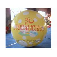 Quality Commercial Activity Inflatable Sphere Branded Balloon White / Yellow / Blue Color for sale