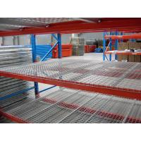 Quality Dark Bule / Orange Red Industrial Storage Racks 75mm Freely Adjusted With Wire Mesh Decking for sale