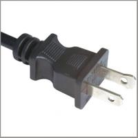 USA Power Lead/UL certified 2 Core round Flexible Cable with 1-15p Plug with Buckle for sale