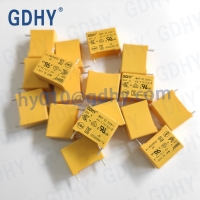 Quality X2 Class 334 310V 0.33UF MKP Safety Polyester Film Capacitor Yellow High Power Resistance for sale