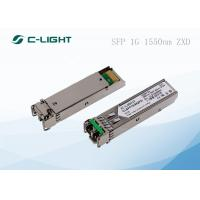 China 80km SMF Transceiver for SFP Modules , EX-SFP-1GE-LH 1.25Gbps for sale