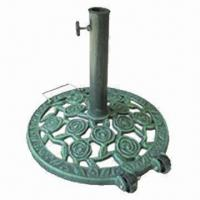 Quality 12kg cast iron parasol base, steel tube with painting for surface, suitable for 38 or 48mm pole for sale