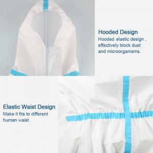 Quality Splash Repellent Disposable Protective Clothing , Non Woven Disposable Protective Coveralls for sale