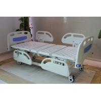 Quality Five Functions Electric Hospital Bed with PP side rails , Home Care Beds With Individual Locking Casters for sale