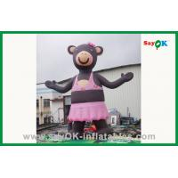 Quality Pink Lovely Inflatable Bear Inflatable Cartoon Character For Advertising for sale