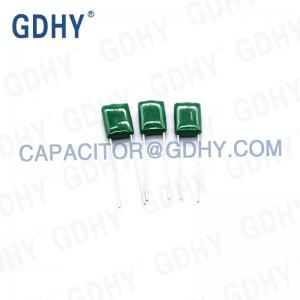 Quality GDHY 0.001uF P3.5mm Polyester Film Capacitor for sale