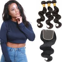 Soft 3 Bundles Virgin Brazilian Hair Extensions , Brazilian Virgin Curly Hair Weave