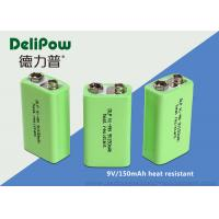 China 150mAh Rechargeable Batteries Nimh , Rechargeable 9v Batteries For Wireless Microphones on sale