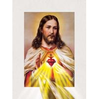 Quality Customized 30x40cm Religion Images 5D Lenticular Printing Services PET 0.6mm Thickness for sale