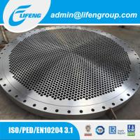 China Custom Precision Casting Tube Sheet For Heat Exchanger on sale