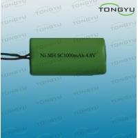 China 4.8V 1000mAh SC NiMh Rechargeable Battery Pack for LED Lights , Digital Cameras on sale