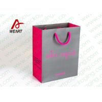 Quality Grey & Pink Coloured Paper Gift Bags For Weddings 210gsm Material for sale