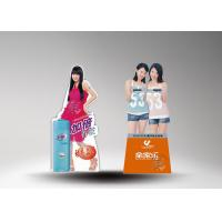 Quality Sexy woman shape cardboard standee toshiba battery with CMYK printing for sale