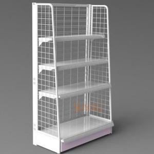 Buy White Metal Display Racks / Floor Displays Retail Snack Daily Commodity at wholesale prices