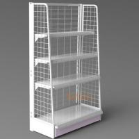 Buy White Metal Display Racks / Floor Displays Retail Snack Daily Commodity Promotion at wholesale prices