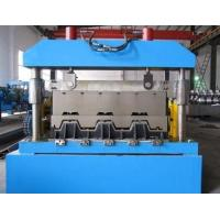 Quality Metal Floor Deck Roll Forming Machine , Skyscrapers Field Sheet Metal Roll Former for sale