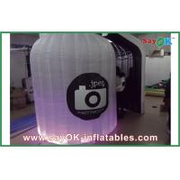 Quality Portable Lighting Inflatable Photo Booth Logo Printed For Wedding for sale