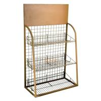 Buy 3 Tiers Custom Metal Display Shelf Logo Printing Acceptable for Exhibiting at wholesale prices