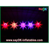 China Versatile Stage Decoration Led Lighting Inflatable Star For Event , Red / Blue on sale