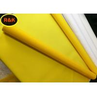 China Monofilament Polyester Screen Mesh Anti Static Yellow Polyester Tensile Strength on sale