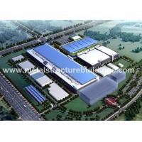China Light Steel Structure Warehouse Depots With Aluminium Sandwich Panel Double Curved Roof for sale
