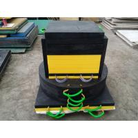 Quality Black color HDPE plastic crane leg foot support pad 600x600x50mm size for sale