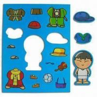 Quality Boy Dress-up Magnets, Made PP and Rubber Magnet Materials, Available with Lamination for sale