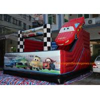 Quality 5*5*4M PVC Tarpaulin Inflatable Bouncy Castle Car Theme Slide for kids for sale
