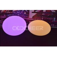 Buy cheap IP68 Glowing Flat Ball table led lamp WITH rechargeable lithium battery from wholesalers