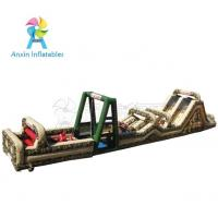 China Outdoor Giant Military Ultimate challenge boot camp inflatable obstacle course for kids and adult on sale