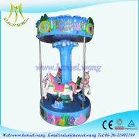 Quality Hansel coin operated electric horse ride 3 seats carousel horse for sale