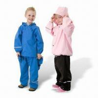 Quality PU Children's Rainwear, Various Styles are Available for sale