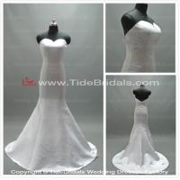 Quality Plain Satin wedding dress simple bridal gown #AS2002 for sale