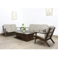 China European Luxury Living Room Furniture Fabric Solid  Wood Sofa Set with Soft Cushion on sale