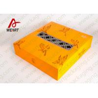 Quality Yellow Fabric Personalised Gift Wrap Box , Special Printing Window Paper Box for sale