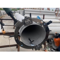 China High efficient  Automatic Feeding Electric pipe Angle Cold  beveling  cutting portable  split frame  Chamfering machine on sale
