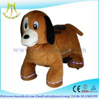 Quality Hansel animal kids-coin-operated plush animals motorized for sale
