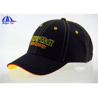 Quality OEM Cotton Custom Baseball Caps with Contrast Sandwich and Eyelets , Fashion Baseball Cap for sale