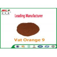 Quality Pure Cotton Indanthrene Dye C I Vat Orange 9 Vat Golden Orange G for sale