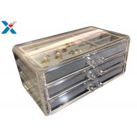 Quality Clear Acrylic Makeup Organiser , Acrylic Jewelry Display Box With Velvet for sale