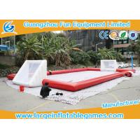 Buy Red Inflatable Football Pitch , Inflatable Soccer Arena Flor Adult Or Children at wholesale prices