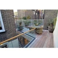 Quality Terrace design aluminum u base channel glass railing/ glass balustrade for sale