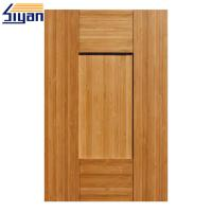 China Five Panels MDF Shaker Kitchen Cabinet Doors Dark Wood Grain Size Customized on sale