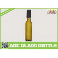 Quality Factory sale 200ml empty wine glass bottle,custom frosted wine bottle with wooden cap for sale