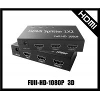 multi port hdmi splitter 1 in 2 out 2 hdmi and component,support 3D for sale